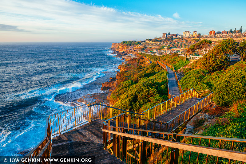 landscapes stock photography | Bondi to Coogee Coastal Walk at Sunrise #1, Bronte, Sydney, NSW, Australia, Image ID AU-BONDI-TO-COOGEE-WALK-0001