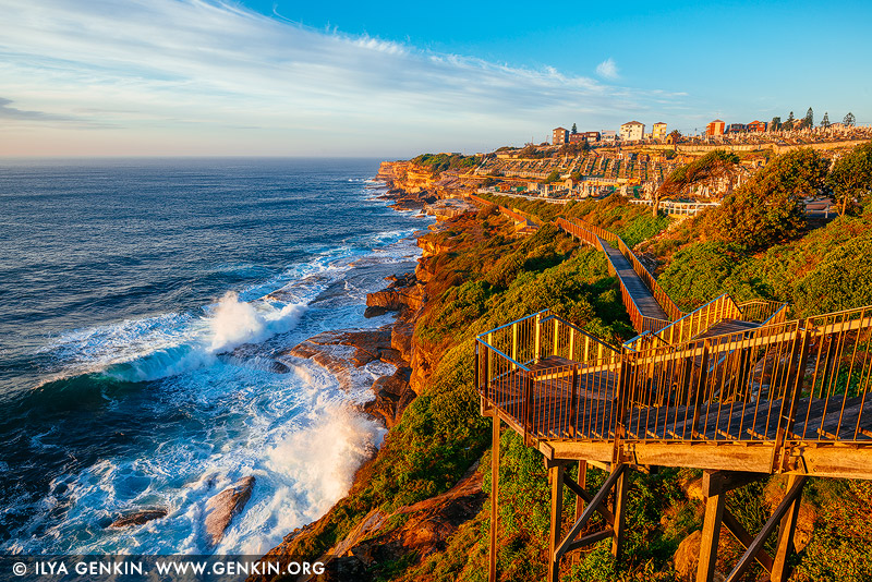 landscapes stock photography | Bondi to Coogee Coastal Walk at Sunrise #2, Bronte, Sydney, NSW, Australia, Image ID AU-BONDI-TO-COOGEE-WALK-0002