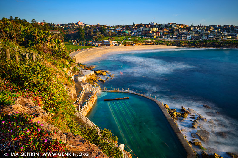 landscapes stock photography | Bronte Beach at Sunrise, Bronte, Sydney, NSW, Australia