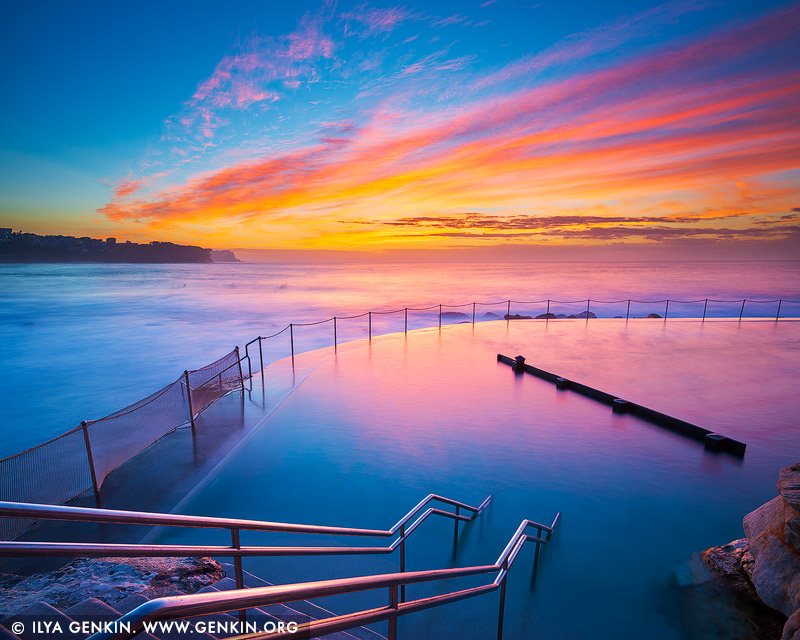 landscapes stock photography | Beautiful Sunrise at Bronte Baths, Bronte Beach, Sydney, NSW, Australia, Image ID AU-BRONTE-BEACH-0007