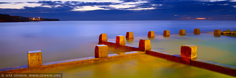 landscapes stock photography | Coogee Beach Tidal Pool at Sunrise, Sydney, NSW, Australia, Image ID AU-COOGEE-BEACH-0002