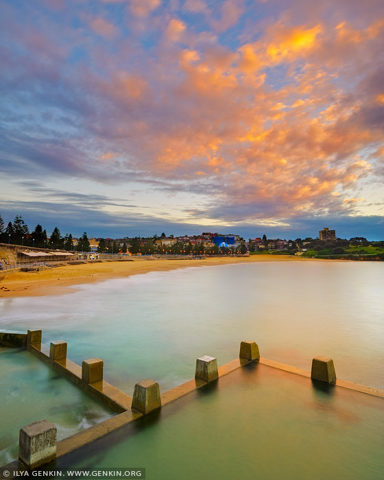 landscapes stock photography | Beautiful Sunrise Above Coogee Beach, Sydney, NSW, Australia, Image ID AU-COOGEE-BEACH-0003