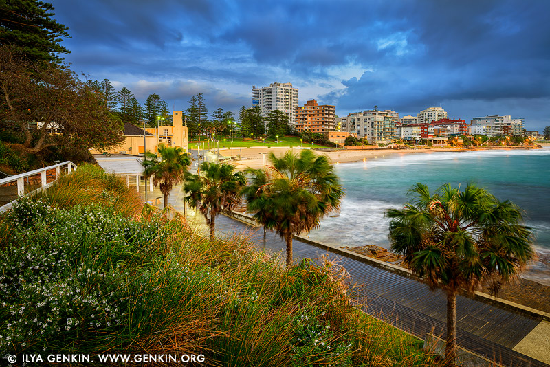 landscapes stock photography | Cronulla Beach on a Stormy Morning, Sydney, NSW, Australia, Image ID AU-CRONULLA-BEACH-0001