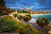 landscapes stock photography | Cronulla Beach on a Stormy Morning, Sydney, NSW, Australia, Image ID AU-CRONULLA-BEACH-0001. Clear water, beautiful beaches and spectacular views are just a few of the features that the Cronulla Esplanade has to offer. You can start from Wanda Beach, the most northerly patrolled beach along the Cronulla stretch, and go all the way to Bass and Flinders point or any part thereof. The Esplanade walk circles Cronulla and is a perfect spot to run, push a pram or just stretch the legs. With multiple entry and exit points, the footpath takes you around the peninsula with magnificent views of the beaches and coastline. Along the walk there are many restaurants and cafes oozing style and charm. Or it's just a short stroll up to Cronulla Plaza which offers a diverse mix of dining, shopping and entertainment.