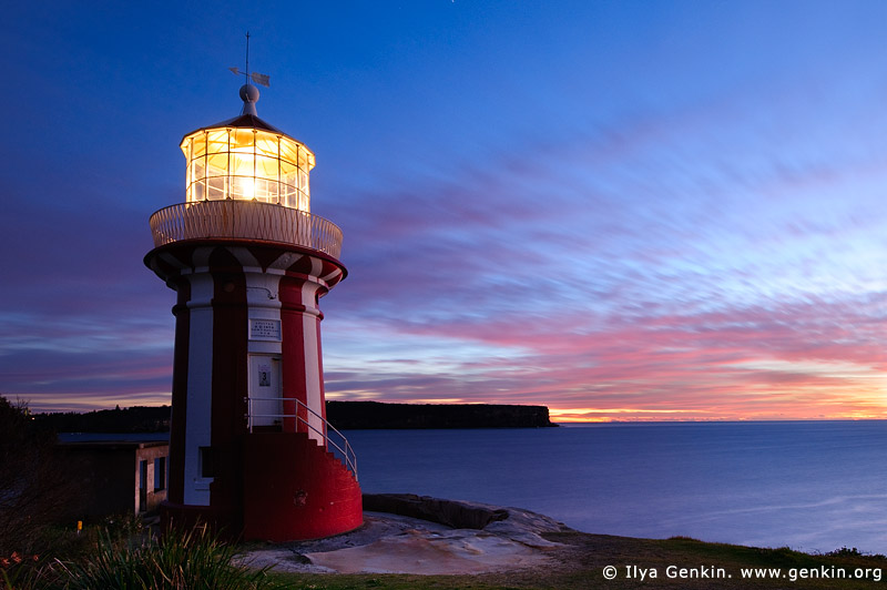 landscapes stock photography | Hornby Lighthouse at Sunrise, South Head, Watson Bay, Sydney, New South Wales (NSW), Australia, Image ID AU-HORNBY-LIGHTHOUSE-0001