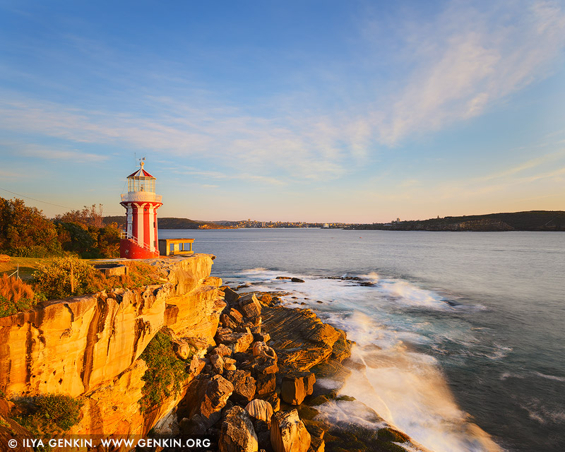 landscapes stock photography | Hornby Lighthouse at Sunrise, South Head, Watson Bay, Sydney, New South Wales (NSW), Australia