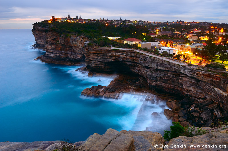 landscapes stock photography | The Gap at Twilight, Watsons Bay, Sydney, NSW, Australia, Image ID AU-SYDNEY-THE-GAP-0001