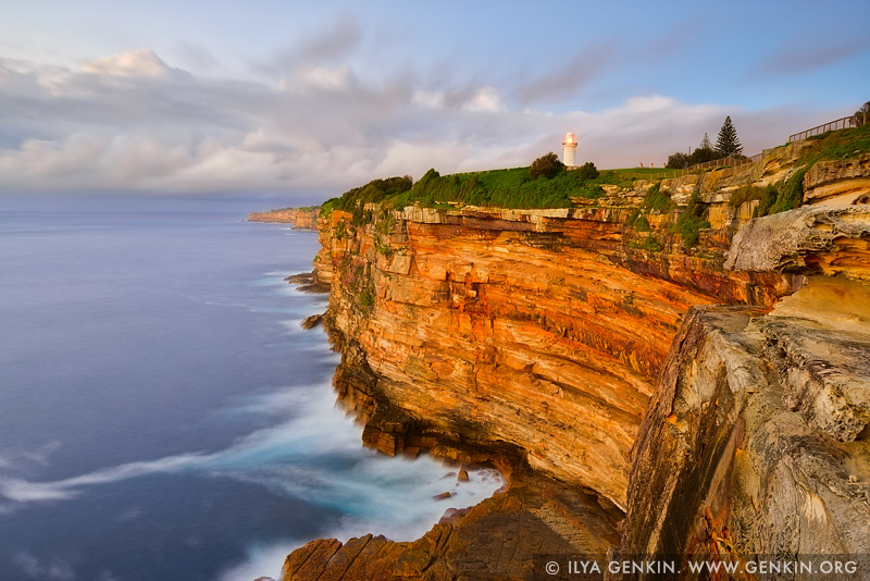 landscapes stock photography | The Macquarie Lighthouse and Cliff, Watsons Bay, Sydney, NSW, Australia, Image ID AU-SYDNEY-WATSONS-BAY-0001