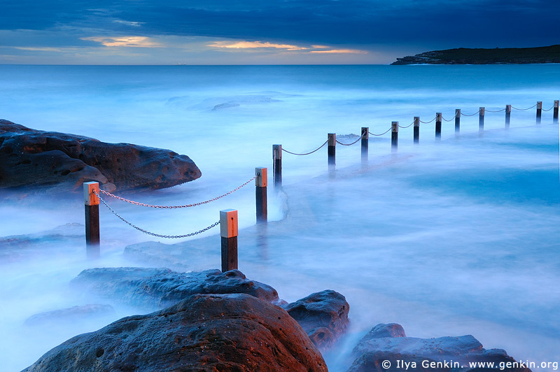 landscapes stock photography | Mahon Tidal Pool at Sunrise, Maroubra Beach, Sydney, NSW, Australia, Image ID MAROUBRA-BEACH-0001