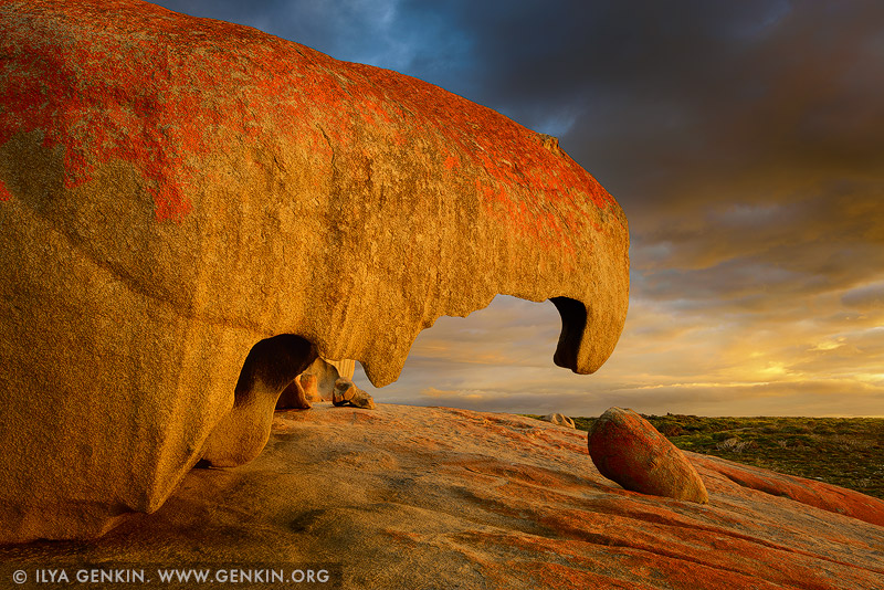 landscapes stock photography | The Remarkable Rocks at Dawn, Flinders Chase National Park, Kangaroo Island, SA, Australia, Image ID KI-REMARKABLE-ROCKS-0005
