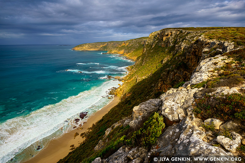 landscapes stock photography | Coastline Near Weirs Cove and Cape Du Couedic, Flinders Chase National Park, Kangaroo Island, SA, Australia