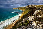 landscapes stock photography   Coastline Near Weirs Cove and Cape Du Couedic, Flinders Chase National Park, Kangaroo Island, SA, Australia, Image ID KI-REMARKABLE-ROCKS-0007. Kangaroo Island is renowned for its spectacular rugged coastline with a sprinkling of secluded bays, views of the vast wilderness, remarkable sculptured rocks and encounters with native wildlife.