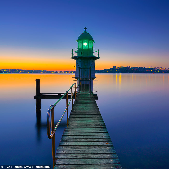 landscapes stock photography | Bradleys Head Lighthouse at Sunrise, Bradleys Head, Sydney, NSW, Australia, Image ID AU-BRADLEYS-HEAD-0001