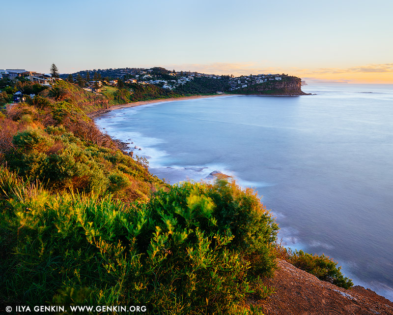 landscapes stock photography | Bungan Beach at Sunrise, Sydney, NSW, Australia, Image ID AU-BUNGAN-BEACH-0001