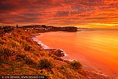 landscapes stock photography | Bungan Beach at Sunrise, Sydney, NSW, Australia, Image ID AU-BUNGAN-BEACH-0002. Sunrise and cloud formations over the Bungan Beach. The vivid colours of the sunrise add to the beauty of the Northern Beaches in Sydney, NSW, Australia.