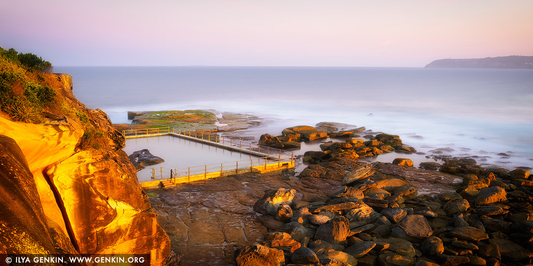 Landscapes Stock Photography | Sunset At North Curl Curl Rockpool, Sydney,  NSW, Australia
