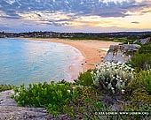 landscapes stock photography | Sunset at North Curl Curl Beach, Sydney, NSW, Australia, Image ID AU-CURL-CURL-0008. Beautiful sunset at North Curl Curl Beach in Sydney, NSW, Australia. Visitors have stunning views of the Curl Curl Beach and the ocean.