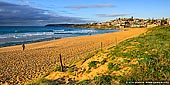 landscapes stock photography | South Curl Curl Beach at Sunrise, Sydney, NSW, Australia, Image ID AU-CURL-CURL-0011. Panoramic photo of bright sunrise at the Curl Curl Beach in Sydney, NSW, Australia.