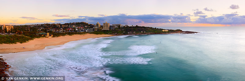landscapes stock photography | Freshwater Beach at Dawn, Sydney, NSW, Australia, Image ID AU-FRESHWATER-BEACH-0001