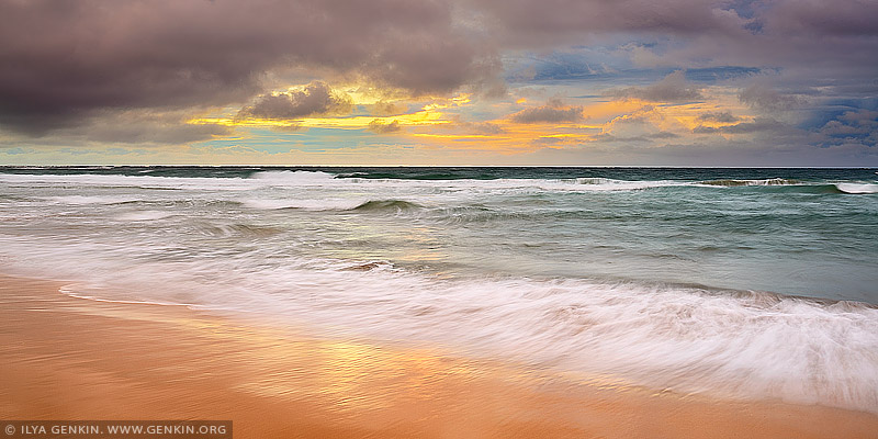 landscapes stock photography | Long Reef Beach and Pacific Ocean at Sunrise, Sydney, NSW, Australia, Image ID AU-LONG-REEF-BEACH-0002