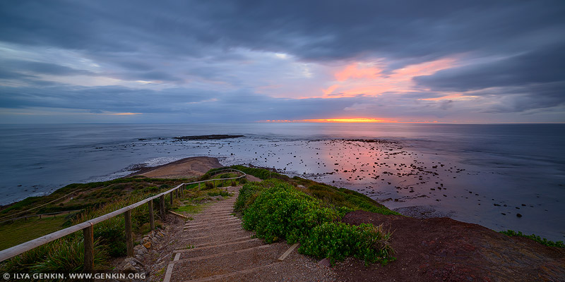 landscapes stock photography | Sunrise on a Cloudy Morning at Long Reef, Sydney, NSW, Australia, Image ID AU-LONG-REEF-POINT-0008