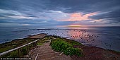 landscapes stock photography | Sunrise on a Cloudy Morning at Long Reef, Sydney, NSW, Australia, Image ID AU-LONG-REEF-POINT-0008. Panoramic image of a beautiful dramatic sunrise on a very cloudy morning above the popular Long Reef Point on famous Sydney's Northern Beaches in Australia.
