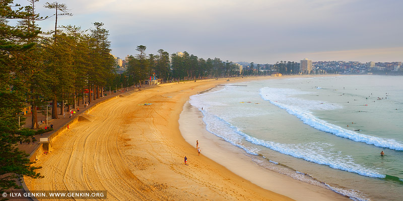 landscapes stock photography | Manly Beach at Sunrise, Manly, Sydney, NSW, Australia, Image ID AU-MANLY-BEACH-0005