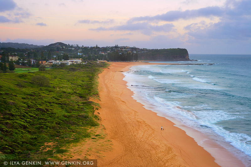 landscapes stock photography | Mona Vale Beach at Dawn, Mona Vale Beach, Sydney, NSW, Australia, Image ID AU-MONA-VALE-0002