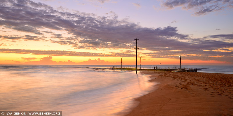 landscapes stock photography | Mona Vale Beach Tidal Pool at Sunrise, Mona Vale Beach, Sydney, NSW, Australia, Image ID AU-MONA-VALE-0003
