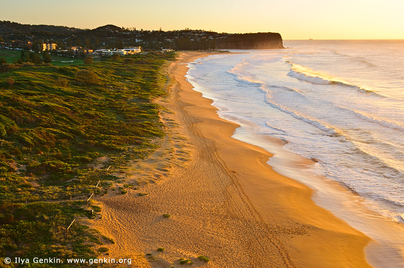 landscapes stock photography | Golden Sunrise at Mona Vale Beach, Mona Vale Beach, Sydney, NSW, Australia, Image ID AU-MONA-VALE-0005