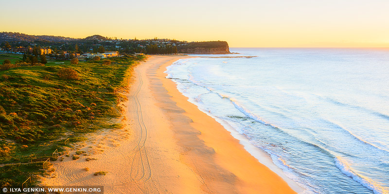 landscapes stock photography | Golden Sunrise at Mona Vale Beach, Sydney, NSW, Australia, Image ID AU-MONA-VALE-0007