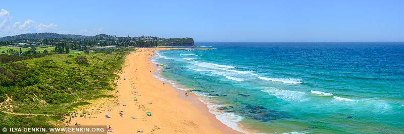 landscapes stock photography | Mona Vale Beach on a Summer Day, Sydney, NSW, Australia, Image ID AU-MONA-VALE-0009