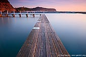 landscapes stock photography | Early Morning at Narrabeen Tidal Pool, Narrabeen Beach, Sydney, NSW, Australia, Image ID AU-NARRABEEN-0002. Stock image of calm waters at Narrabeen Tidal Pool on famous Sydney's Northern Beaches in NSW, Australia early in the morning just after Sun got above horizon.