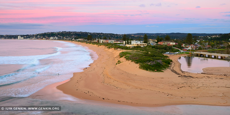 Narrabeen Beach at Dawn, Narrabeen Beach, Sydney, NSW, Australia