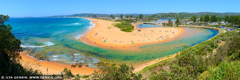 landscapes stock photography | Narrabeen Beach on a Summer Day, Sydney, NSW, Australia, Image ID AU-NARRABEEN-0012