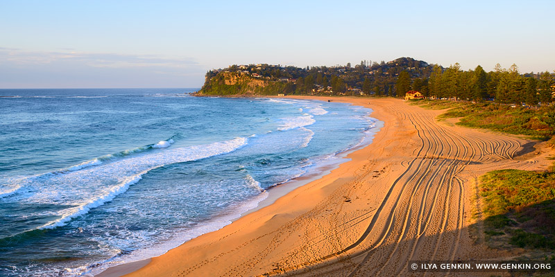 landscapes stock photography | Newport Beach at Sunrise, Sydney, NSW, Australia, Image ID AU-NEWPORT-BEACH-0001