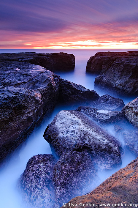 landscapes stock photography | Devil's Cauldron at Dawn, Whale Beach, Dolphin Bay, Sydney, NSW, Australia, Image ID DEVILS-CAULDRON-0001