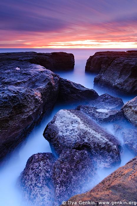 landscapes stock photography | Devil's Cauldron at Dawn, Whale Beach, Dolphin Bay, Sydney, NSW, Australia, Image ID DEVILS-CAULDRON-0001