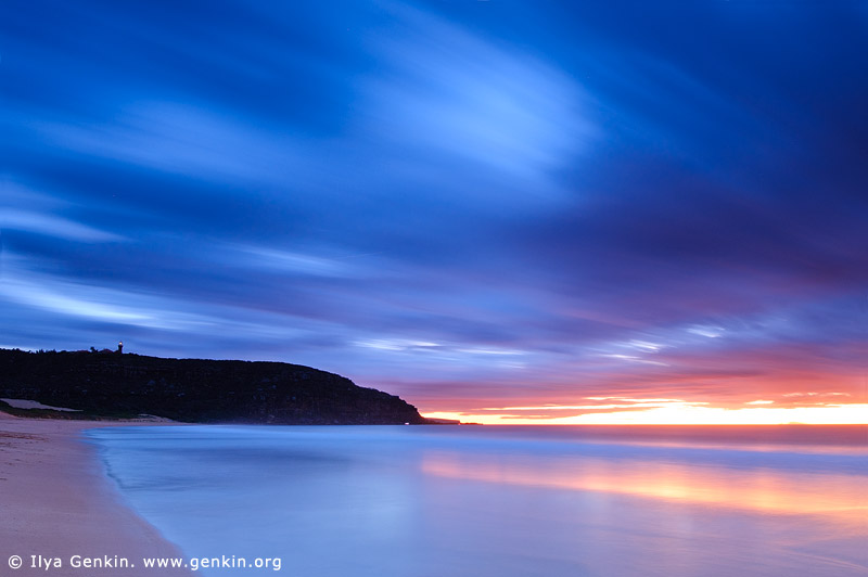 landscapes stock photography | Barrenjoey and Palm Beach at Sunrise, Palm Beach, Sydney, NSW, Australia, Image ID PALM-BEACH-BARRENJOEY-0001