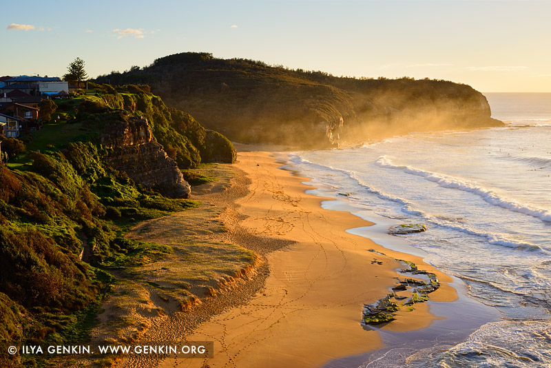 landscapes stock photography | Golden Sunrise at Turimetta Beach, Sydney, NSW, Australia, Image ID TURIMETTA-BEACH-0020
