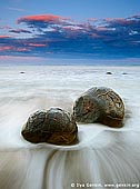 landscapes stock photography | Moeraki Boulders at Sunset, Otago, South Island, New Zealand, Image ID NZ-MOERAKI-BOULDERS-0001.