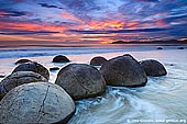 landscapes stock photography | Moeraki Boulders at Sunrise, Otago, South Island, New Zealand, Image ID NZ-MOERAKI-BOULDERS-0006.
