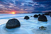 landscapes stock photography | Moeraki Boulders at Sunrise, Otago, South Island, New Zealand, Image ID NZ-MOERAKI-BOULDERS-0009.