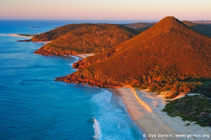 landscapes stock photography | Zenith Beach at Sunrise, Tomaree National Park, Port Stephens, NSW, Australia, Image ID AU-ZENITH-BEACH-0001