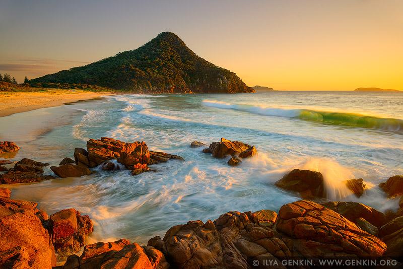 landscapes stock photography | Zenith Beach at Sunrise, Tomaree National Park, Port Stephens, NSW, Australia, Image ID AU-ZENITH-BEACH-0005