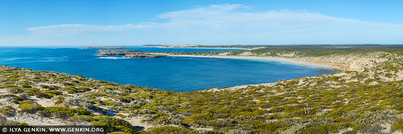 landscapes stock photography | Pondalowie Bay from West Cape, Innes National Park, Yorke Peninsula, South Australia (SA), Australia, Image ID AU-PONDALOWIE-BAY-0001