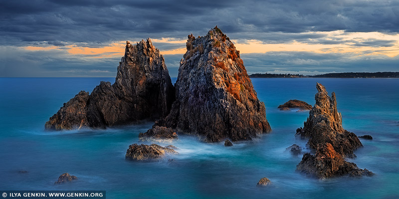 landscapes stock photography | Camel Rock at Sunset, Bermagui, Sapphire Coast, NSW South Coast, NSW, Australia
