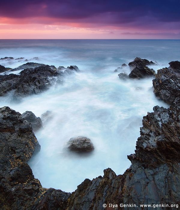 landscapes stock photography | Long Nose Point at Sunrise, Broulee Bay, Eurobodalla Shire, New South Wales (NSW), Australia, Image ID AU-LONG-NOSE-POINT-0004