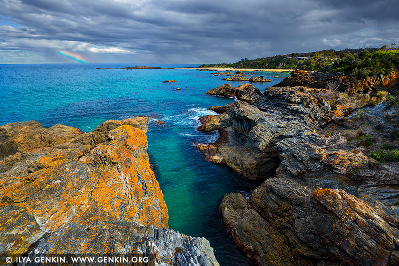 landscapes stock photography | Mystery Bay Coast after Storm, Mystery Bay, Eurobodalla, South Coast, NSW, Australia, Image ID AU-MYSTERY-BAY-0001