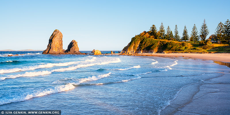 landscapes stock photography | Sunset at Glasshouse Rocks, Narooma, Eurobodalla, South Coast, NSW, Australia, Image ID AU-NAROOMA-GLASSHOUSE-ROCKS-0001